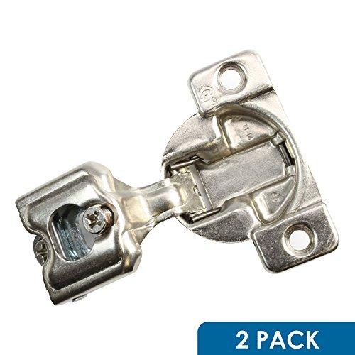 Gras Cabinet Hardware (2Stück ROK Hardware Gras Tec 864108Grad 2,5cm Overlay 3Level selbst Schließen Schraube auf Compact Schrank Scharnier 04401-153-Wege-Anpassung 45mm langweilig Muster)