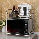 WXP Kitchen furniture - Mikrowelle Rack Boden Typ Reiskocher Multifunktionshalterung -Küchenschränke und Besteckschränke (Farbe : 50cm, größe : Doppelschicht)