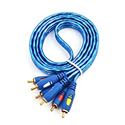 Generic Universal 3 RCA Male to 3 RCA Male Audio Video Cable 4.9Ft Long for DVD Player TV