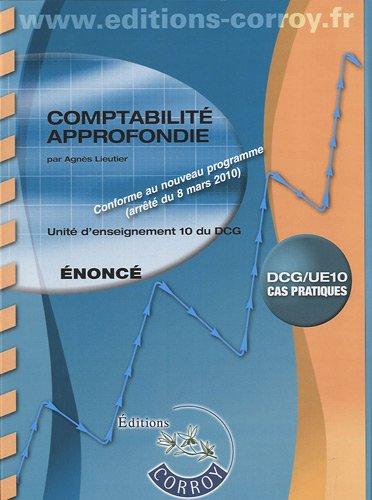 Comptabilité approfondie UE 10 du DCG :...