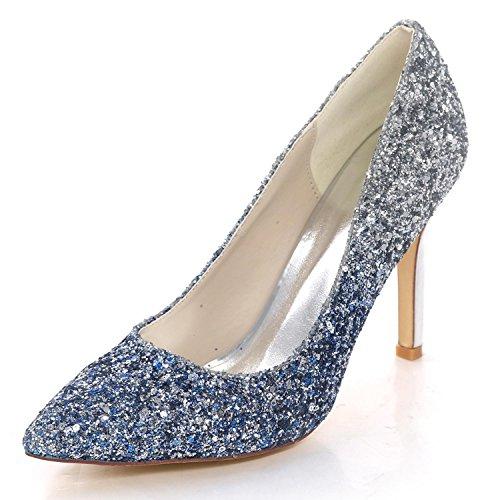 Elegant high shoes Scarpe da Sposa da Donna 0608-44 Paillettes Summer Party  Tacco Alto Scarpe da Sposa Corte Chiusa per Le Dita dei Piedi 80e29d02a00