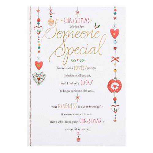 Auguri Di Natale A Una Persona Speciale.Hallmark Biglietto Natale Per Una Persona Speciale Medium Auguri Natalizi