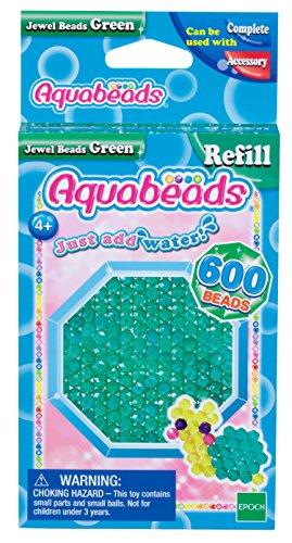 Aquabeads 32698 Glitzerperlen Bastelperlen nachfüllen grün