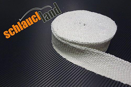 30m Keramik Hitzeschutzband 50mm weiss 1200°C *** Heat Wrap Turbo Fächerkrümmer Isolierband Auspuff Krümmer Band