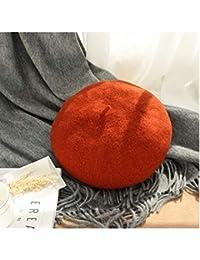 XIAOLULU Otoño e Invierno de Las Mujeres. Sombrero de Lana Salvaje Boina  Sombrero de Calabaza Femenino Sombrero de Pintor de Lana Retro… 869c5b3ede5