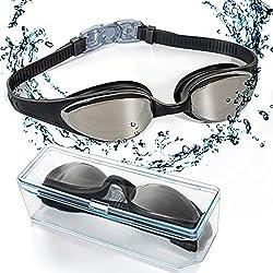 Gafas de Natación,EveShine Gafas para Nadar , Cristal Anti Niebla, Cómodo Sello Hermético, para Adultos, Niños, Hombres, Mujeres