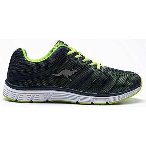Kangaroos K Tech 8007, Baskets mode homme Multicolore(dk navy-lime)
