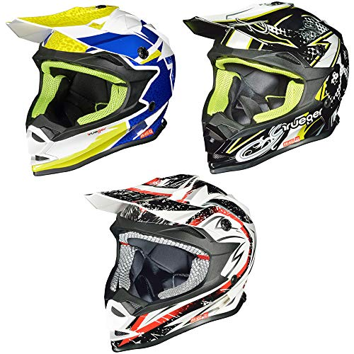 RK-652 Kinder Crosshelm Endurohelm Motorradhelm Roller Quad Helm Kinderhelm, Größe:XS (53-54), Farbe:Rock Blue - Helm Atv Blau Kinder