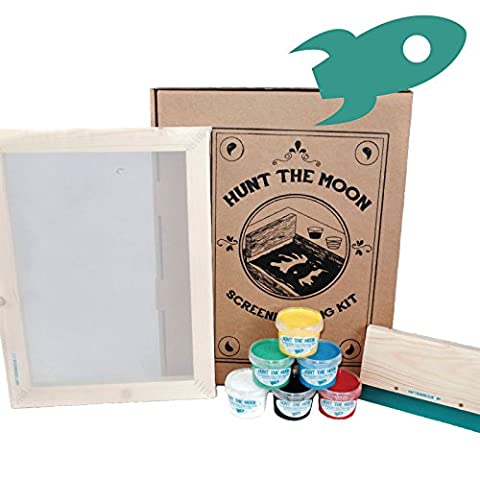 Hunt The Moon - Deluxe Screen Printing Kit (6 Colours)