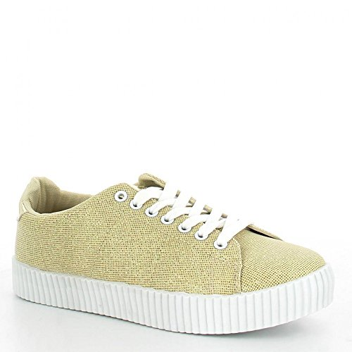 Ideal Shoes ,  Sneaker donna Oro