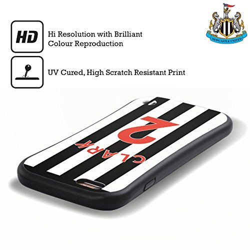 Ufficiale Newcastle United FC NUFC Massadio Haïdara 2017/18 Giocatori Home Kit Gruppo 1 Case Ibrida per Apple iPhone 5 / 5s / SE Ciaban Clark