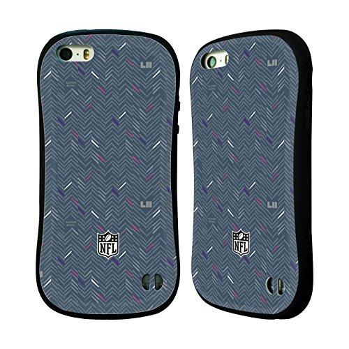 Ufficiale NFL Testo Minnesota 2018 Super Bowl LII Case Ibrida per Apple iPhone 6 / 6s Modelle 5
