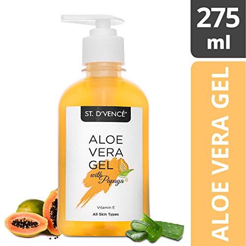 St. D'Vence Aloe Vera & Papaya Gel - 275 Ml (No Parabens & Mineral Oil)