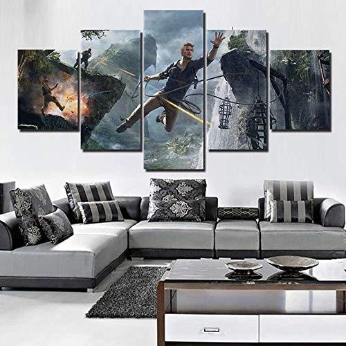 WEPAIN HD leinwand Druck Bild wandkunst 5 Panel Film Marine malerei Dekoration modul Poster Wohnzimmer gürtel_Frame_40X60_40X80_40X100 cm -