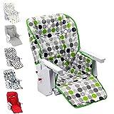 Monsieur Bébé  Housse d'assise pour chaise haute enfant gamme Ptit - 6 coloris -...