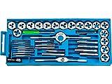 Set 40 tlg. Hochwertigem Legiertem Stahl Gewindeschneider und Bohrer Set Gewindeschneid | Satz Metrisch M3-M12 | Mannesmann Gewindeschneid