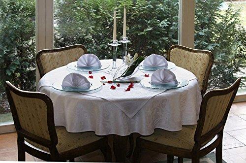 Tischdecken Muster 10x18 cm, Material: 55% Baumwolle, 45% Polyester, Farbe: weiß, Design: Classic