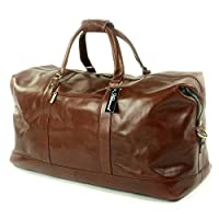 Ashwood XL Travel/Weekend Bag - Holdall - Chestnut Brown Leather