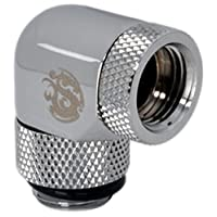 """Bitspower Silver Shining Dual Rotary Angle IG1/4"""" Extender-Nickel"""