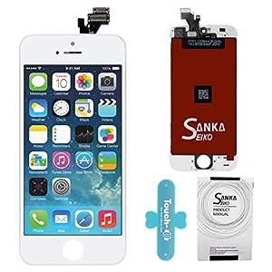 SANKA LCD Touchscreen Display Ersatz Bildschirm Front Komplettes Glas für Apple iPhone 5