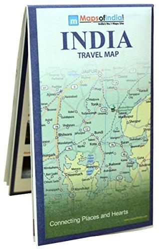 India Travel Map (70 x 84 cm )
