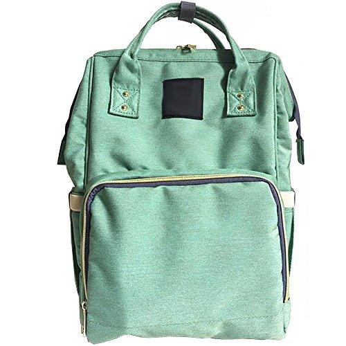 BOZEVON Multifunzione grande capacità borsa a tracolla borse mummia Fashion materna gravidanza Donna - Rosa arancione Verde chiaro