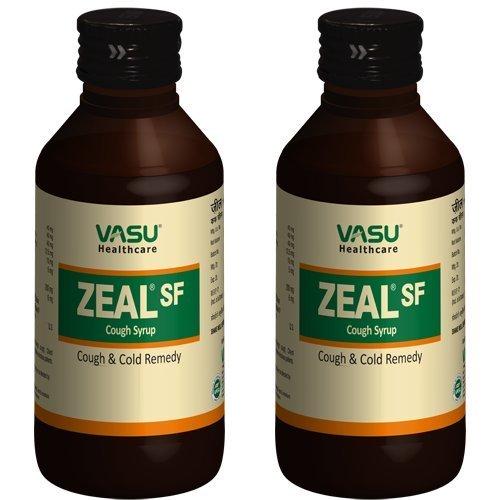 Vasu Gesundheitswesen Zeal SF Husten Sirup 100 ml (Packung von 2) - Menthol-sirup