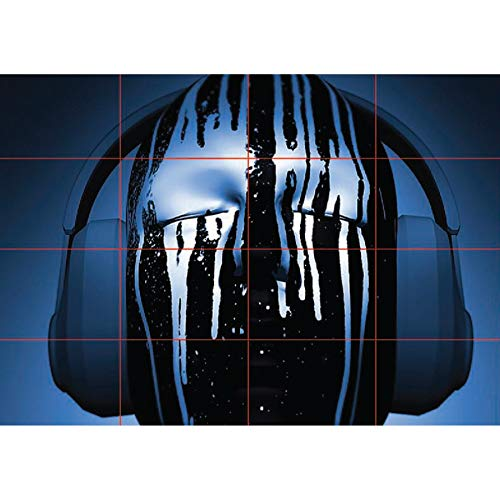 DJ WITH HEADPHONES PAINT DRIPS NEW GIANT POSTER WALL ART PRINT PICTURE G423