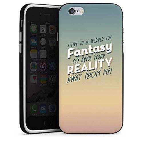 Apple iPhone X Silikon Hülle Case Schutzhülle Fantasie Sprüche Statement Silikon Case schwarz / weiß