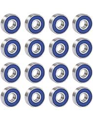 TRIXES 16 roues Abec 9 sans frottement pour skateboard rollers roulement de skates