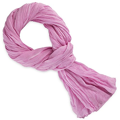 Allée du foulard Chèche rose cashem