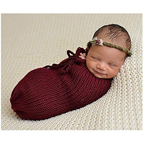 Neugeborene Baby Fotografie Requisiten Boy Girl Crochet Kostüm Outfits Schlafsack