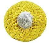 SAMGU Bambino ragazza Palla Crochet Autunno inverno coniglio Capelli Beanie Cappelli Bambini a maglia Colore Giallo