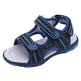 QinMM Sommer Kinder Kinder Schuhe Jungen Mädchen Strand Laufschuhe Sport Sandalen Schuhe Turnschuhe Grau Blau Grün 19-24 (19, Blau)