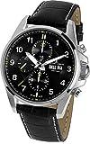 Jacques Lemans Herren Chronograph Automatik Smart Watch Armbanduhr mit Leder Armband 1-1750A