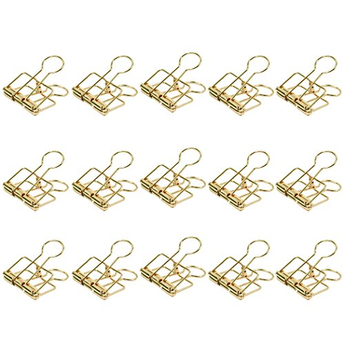 Zoohot 32mm oro metal pinzas/clips - paquete de 15