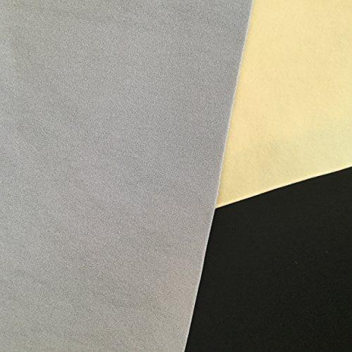 Tissu Revêtement velours ciel de toit automobile Gris clair T129 01
