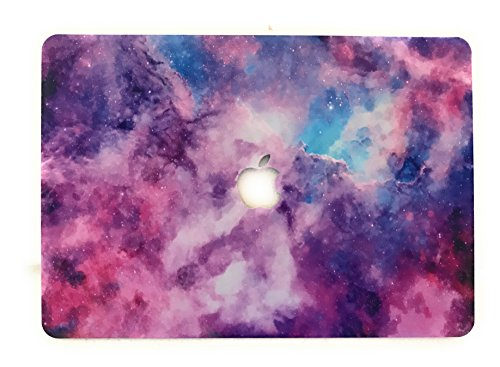 Aavjo® Galaxy Printed rigid plastic with logo cut case cover for Apple Macbook Pro 15