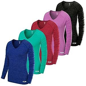 TCA Elle Quickdry Damen Laufshirt/Funktionsshirt – Langarm