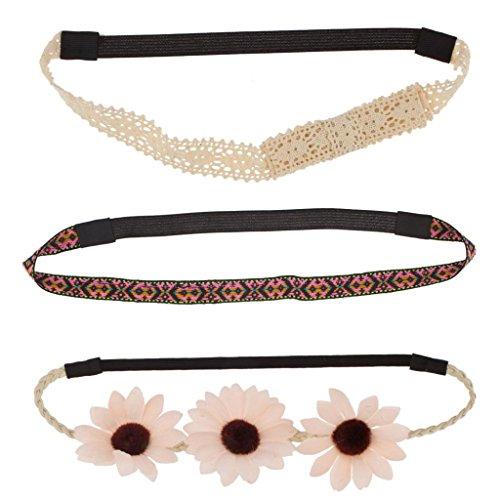 lux-accessori-cerchietto-per-capelli-con-motivo-floreale-e-tribale-in-tessuto-stretch