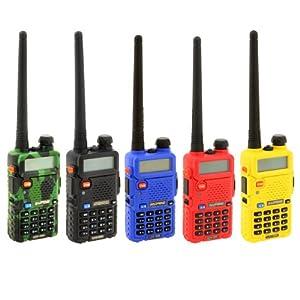 Baofeng UV-5R Talkie-walkie radio portable/Walkie-talkie FM émetteur-récepteur double bande, double affichage, double veille et horloge intégrée