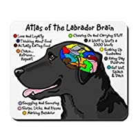 CafePress Black Lab Brain Non-slip Rubber Mousepad, Gaming Mouse Pad