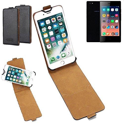 K-S-Trade Hülle für Siswoo A5 Tasche Handyhülle Schutzhülle Handytasche Case Schutz-Hülle 360° Smartphone Flip Style Case Flipcase Kameraschutz aus Kunstleder