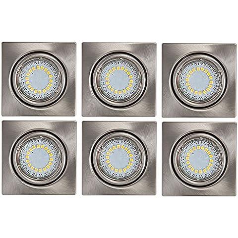 Hall di LED 6 Pack installazione posto 4,5 Watt soggiorno corridoio Spotlight CRISTALDREAM 2305329