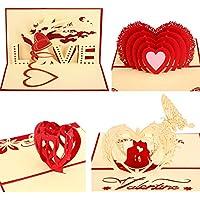 Tarjeta 3D Pop Up de San Valentín con Sobre Tarjeta de Amor Romántico Tarjeta de Aniversario