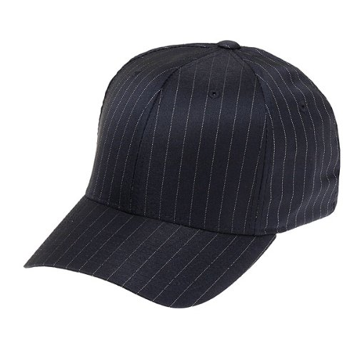Flexfit Cap Pinstripe Black White - L-XL