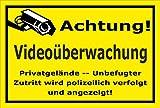 Video-Überwachung Schild - Achtung Videoüberwachung - Privatgelände – 30x20cm | stabile 3mm starke Aluminiumverbundplatte – S00348-007-C – Kamera-Überwachung +++ in 20 Varianten erhältlich