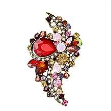 c7a608d2adad Gysad Broches Decoración de diamantes de imitación Broches para ropa mujer  Exquisito y encantador Broches de