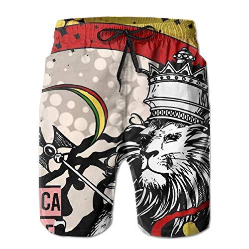 LarissaHi Bañador Summer Beach Shorts Shorts Bolsillos