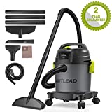 AUTLEAD Wet and Dry Vacuum Cleaner, 1000W 10L Wet Dry Vac Cleaner with Blower, 3-in-1 Multifunction Wet/Dry/Blowing, Powerful 16Kpa Suction, Includes Floor Brush and Crevice Tool- WD01A